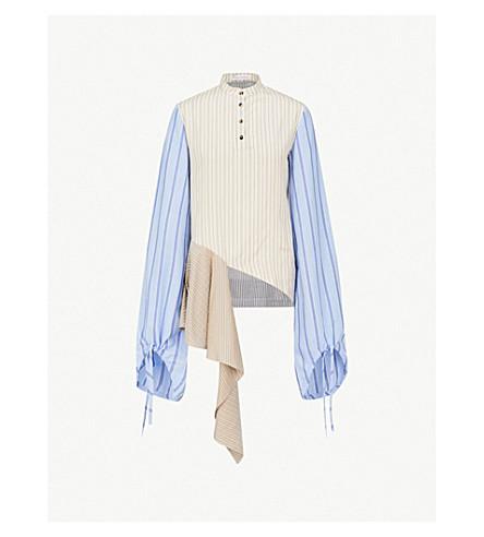 618308a200d JW ANDERSON - Striped asymmetric-hem silk shirt | Selfridges.com