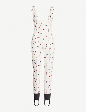MONCLER GENIUS Star-embroidered stretch-twill jumpsuit