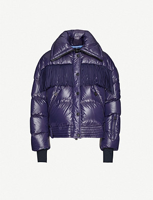 MONCLER GENIUS Fringed padded shell-down jacket