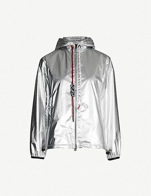 1dc8212d0fd838 MONCLER Mikael drawstring metallic shell jacket