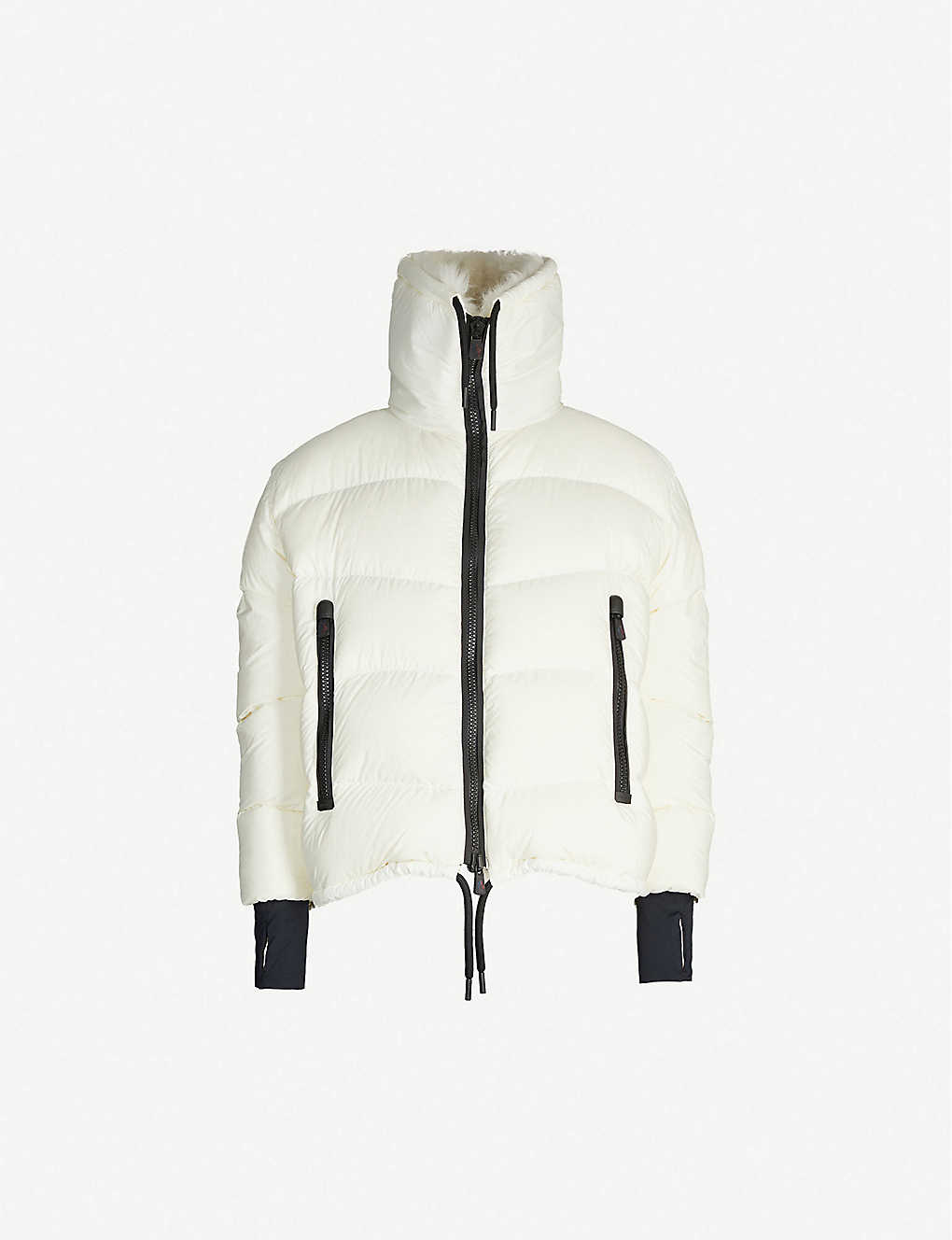 MONCLER: Grenoble Plaret faux-fur and shell jacket