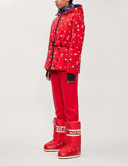 MONCLER GENIUS Star-embroidered stretch-twill jacket