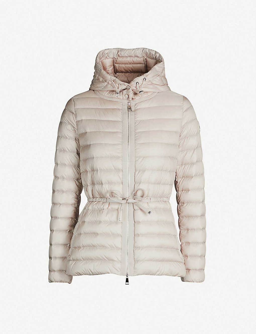 MONCLER: Raie hooded quilted coat