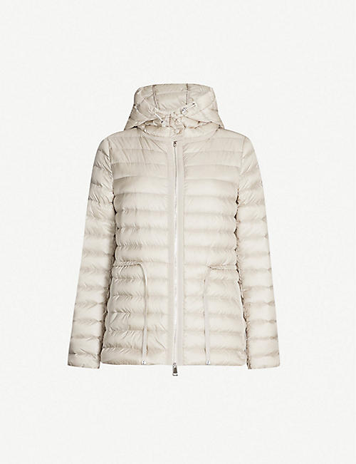 MONCLER Raie hooded quilted coat