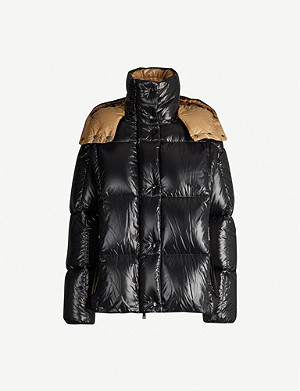 MONCLER Parana hooded nylon coat