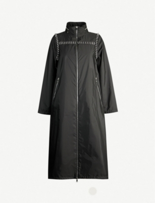 MONCLER GENIUS Pierced-trim shell coat