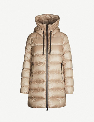 MONCLER Suyen goose down and feather-filled padded shell coat