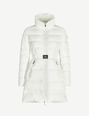 MONCLER Accenteur belted shell-down coat
