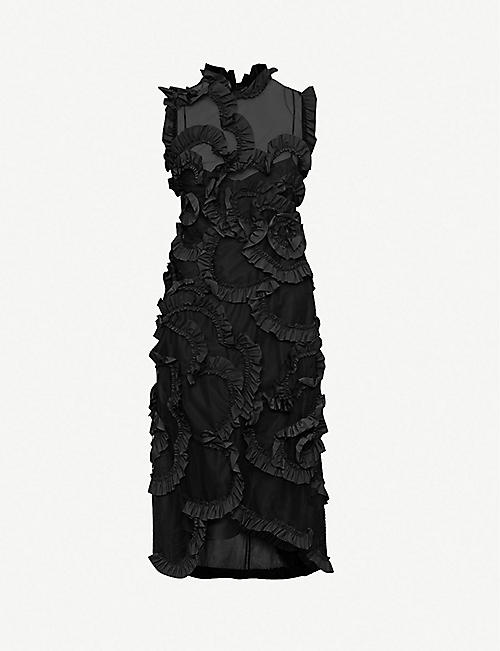 MONCLER GENIUS Moncler 4 ruffled tulle midi dress