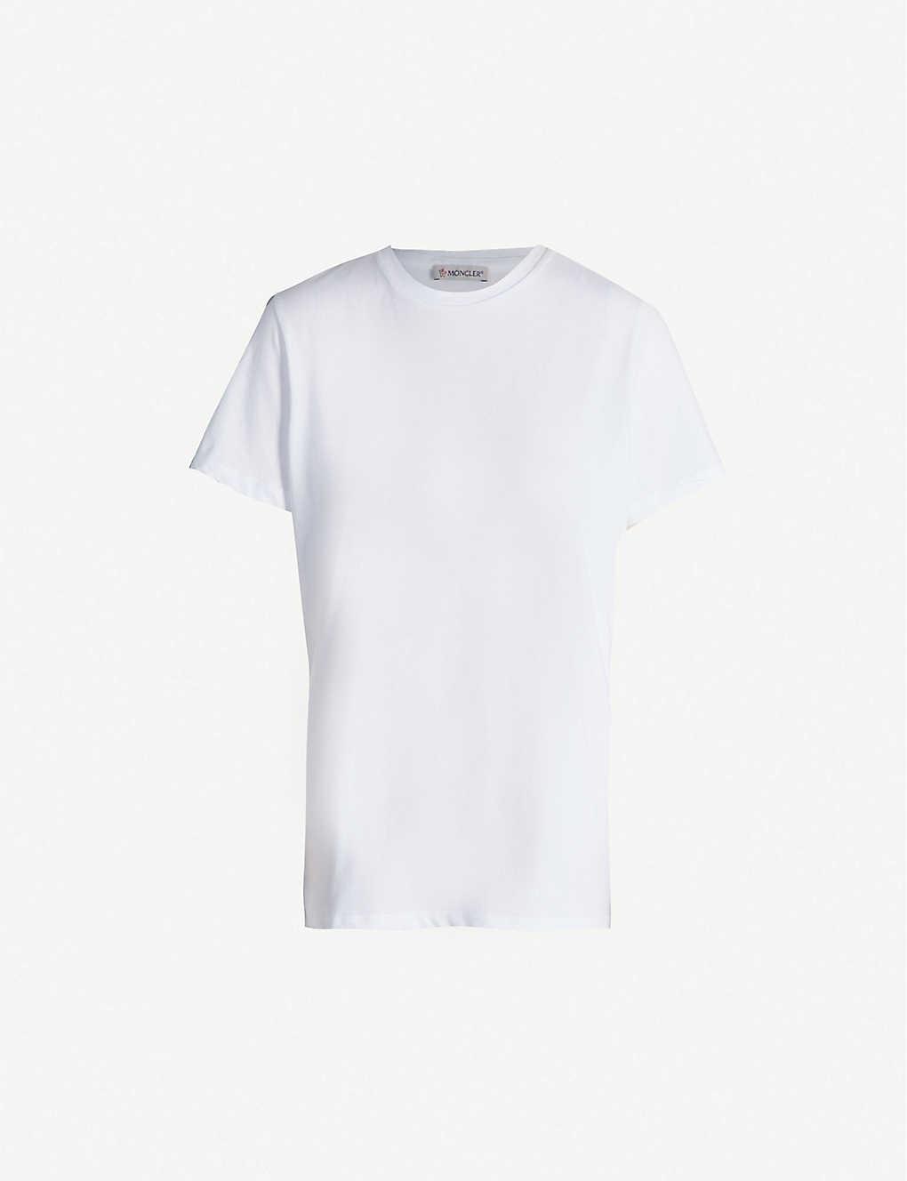 547c10fec Round-neck brand-print cotton-jersey T-shirt