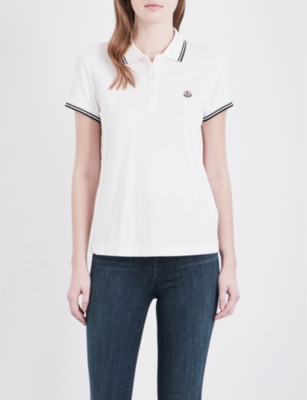online store 95b43 09266 MONCLER - Embroidered cotton polo shirt | Selfridges.com