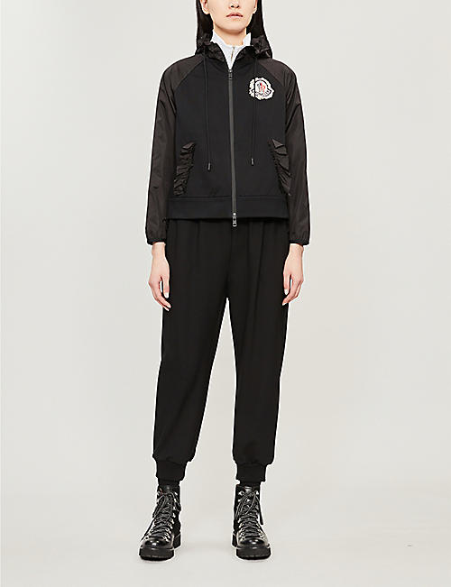 MONCLER GENIUS Moncler Genius x Simone Rocha ruffle-trimmed cotton-jersey and shell hooded jacket