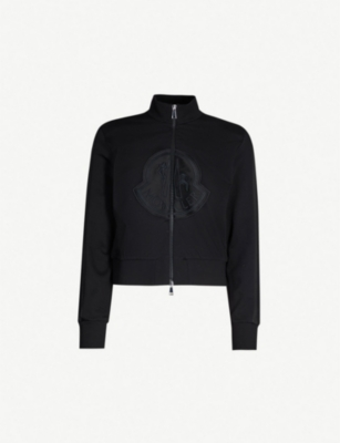 MONCLER Logo-embroidered cotton-jersey jacket