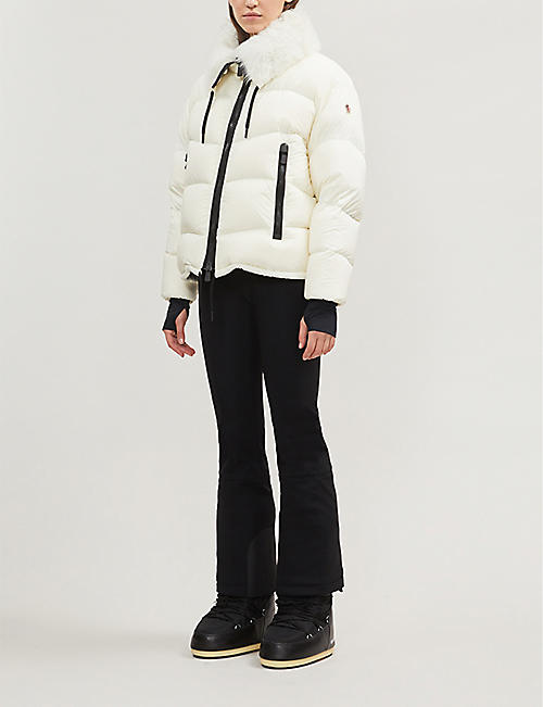 MONCLER Grenoble Logo-patch stretch-woven flared trousers