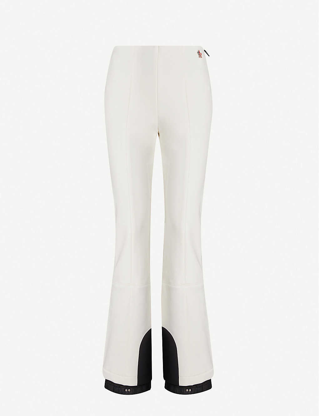 MONCLER: Grenoble Logo-patch stretch-woven flared trousers