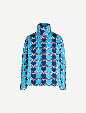 MONCLER GENIUS Heart-print knitted jumper
