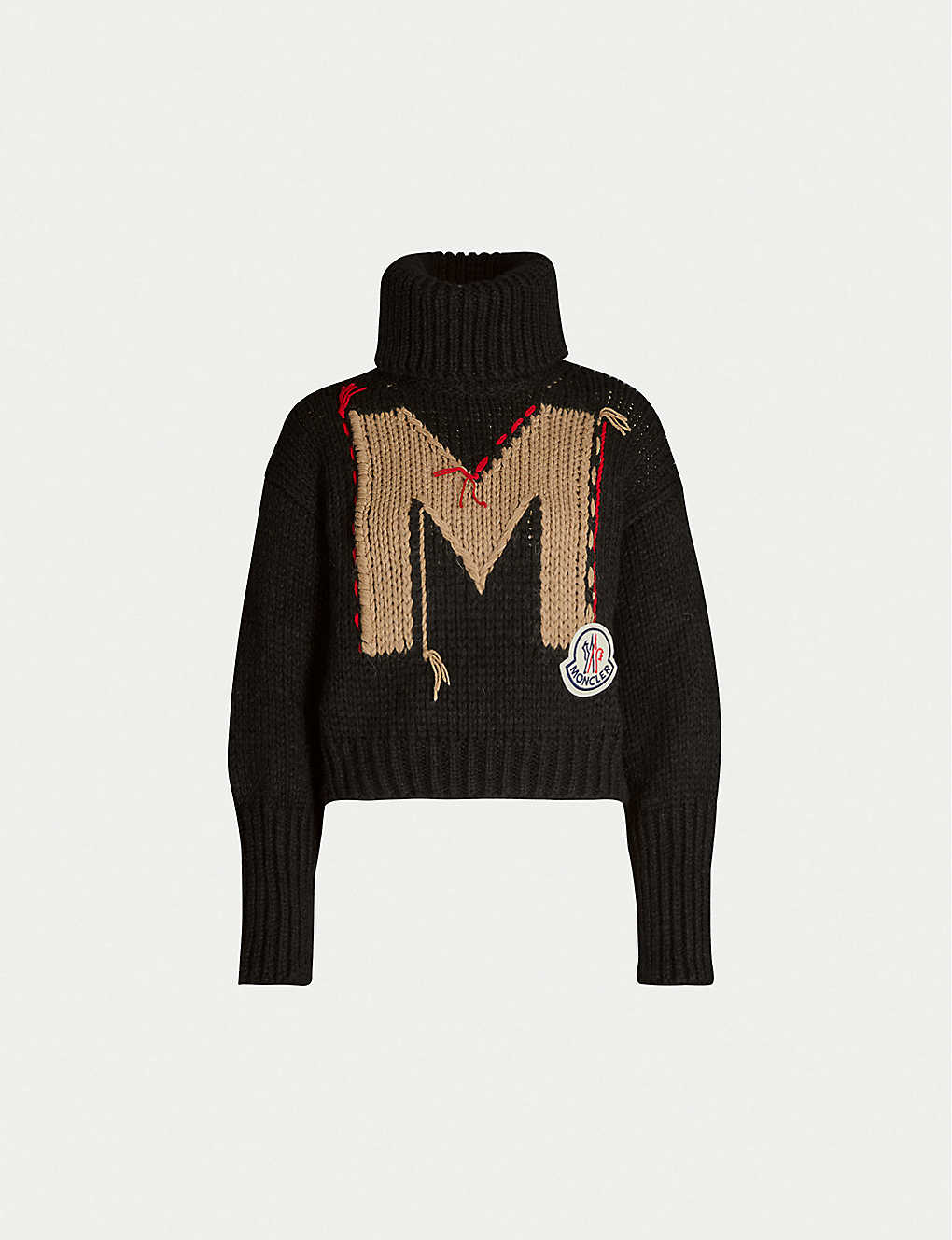 MONCLER: Branded relaxed-fit wool-blend jumper