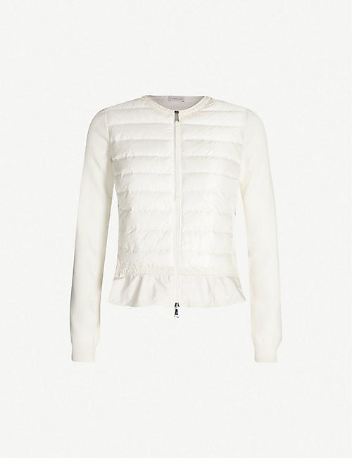 a2888496608 MONCLER Flounce flared-hem cotton-knit and shell-down jacket