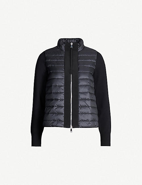 5c8a375524a MONCLER Maglia contrasting-trim padded shell and down-blend jacket