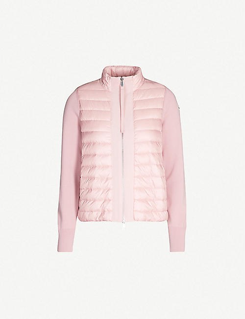 MONCLER Maglia contrasting-trim padded shell and down-blend jacket 7d4eb84b83b