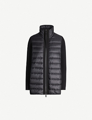 MONCLER Padded shell and wool jacket