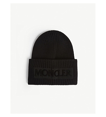 MONCLER - Logo rib-knit wool beanie  2bea03930fc