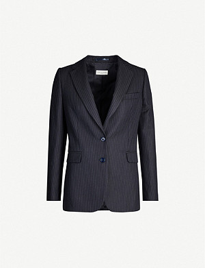 DRIES VAN NOTEN Pinstriped single-breasted wool blazer
