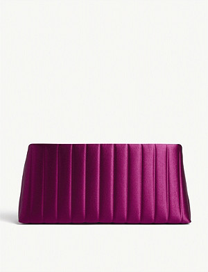 DRIES VAN NOTEN Quilted satin clutch bag