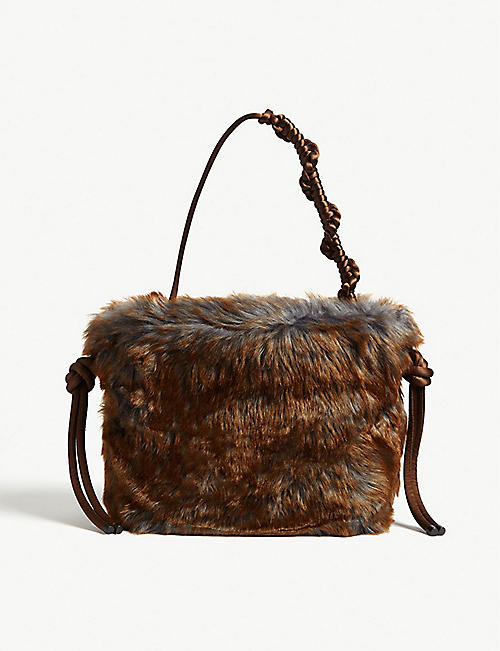 DRIES VAN NOTEN Faux fur tote