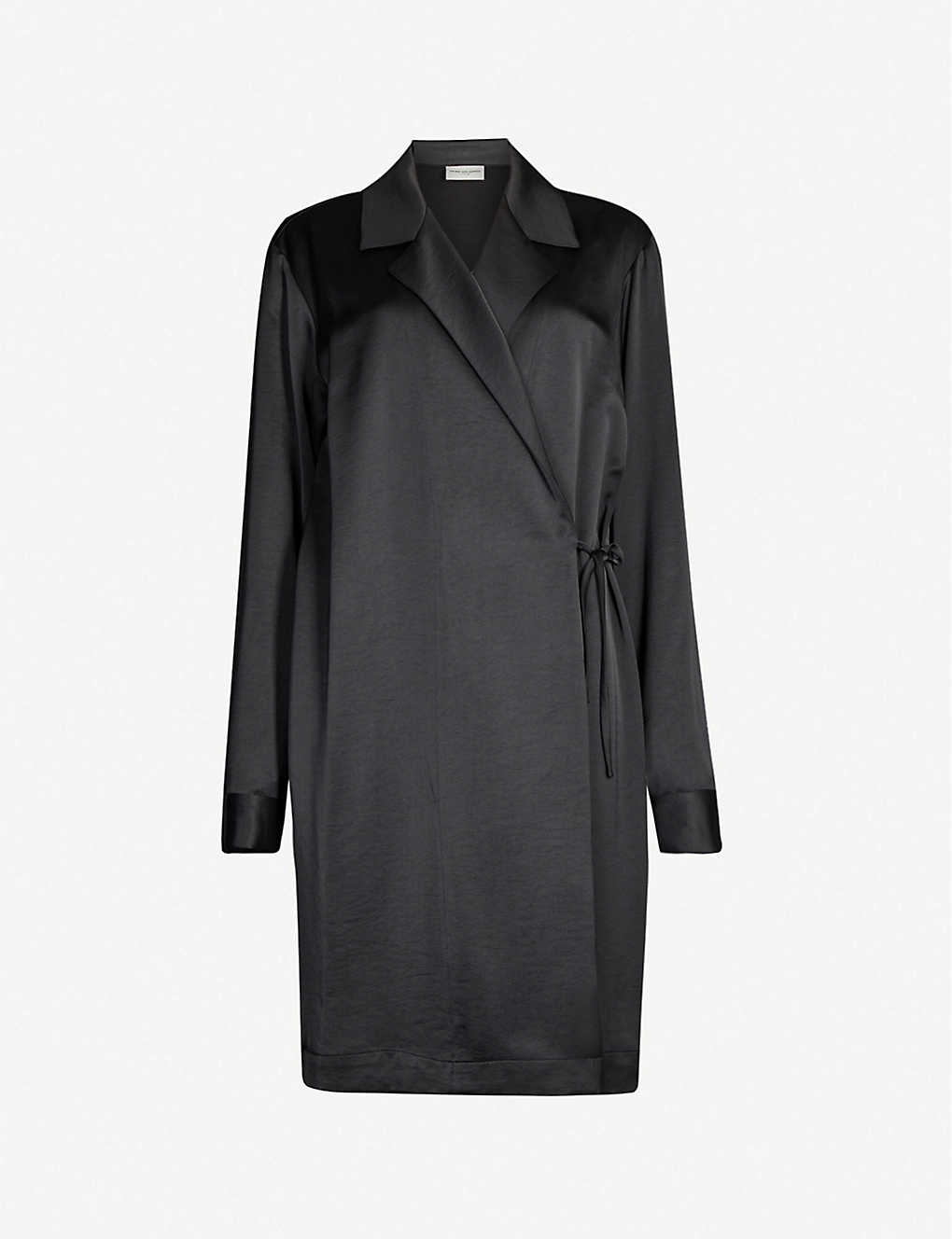 Dries Van Noten Coats Relaxed-fit dropped shoulders satin jacket