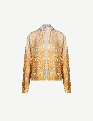 DRIES VAN NOTEN Degrade faded sequins jacket