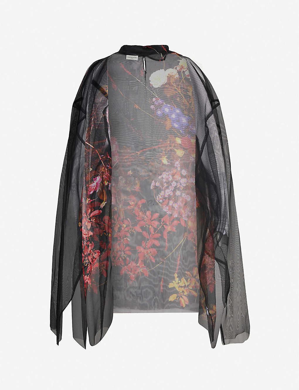 Dries Van Noten Tops Floral-pattern silk-georgette top