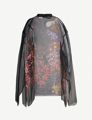 DRIES VAN NOTEN Floral-pattern silk-georgette top
