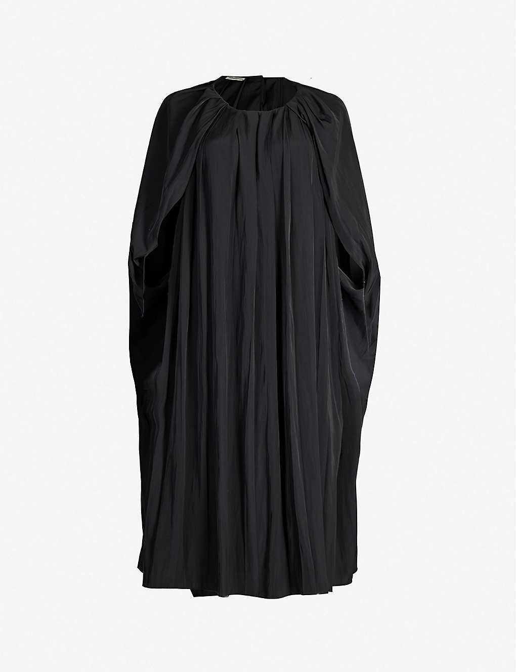 Dries Van Noten Dress Draped sleeveless woven midi dress