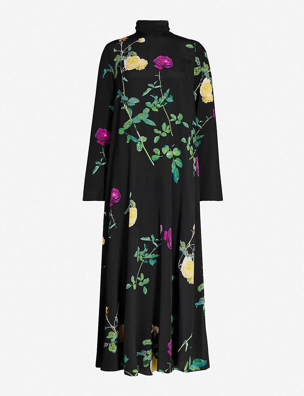 Dries Van Noten Dress Floral-print silk-crepe maxi dress