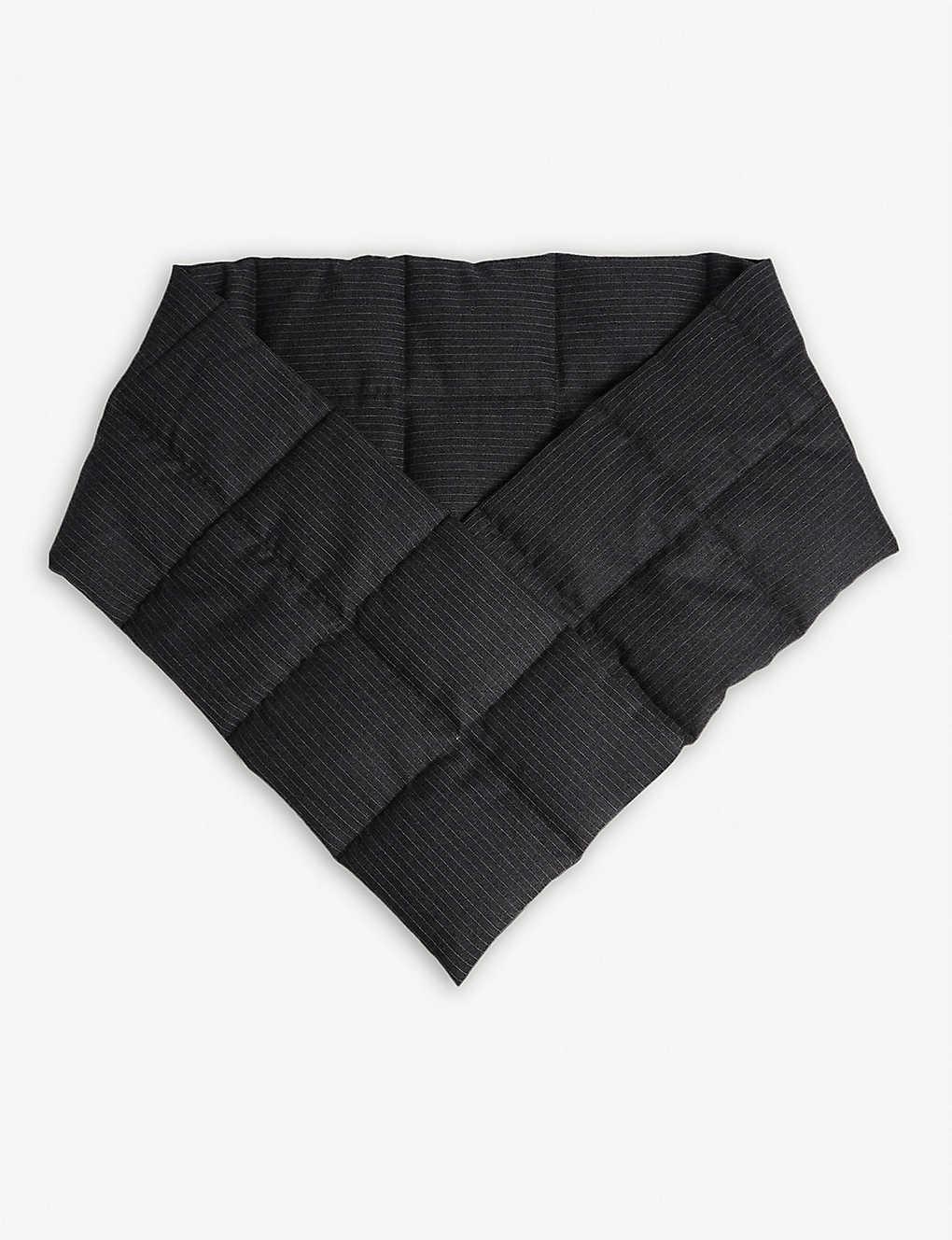 Dries Van Noten Accessories Pinstripe quilted wool scarf