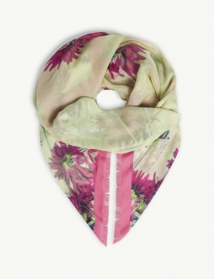 be85f2ec1004 DRIES VAN NOTEN - Floral silk-blend scarf | Selfridges.com