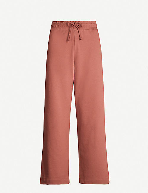 DRIES VAN NOTEN High-rise cotton-jersey wide-leg jogging bottoms