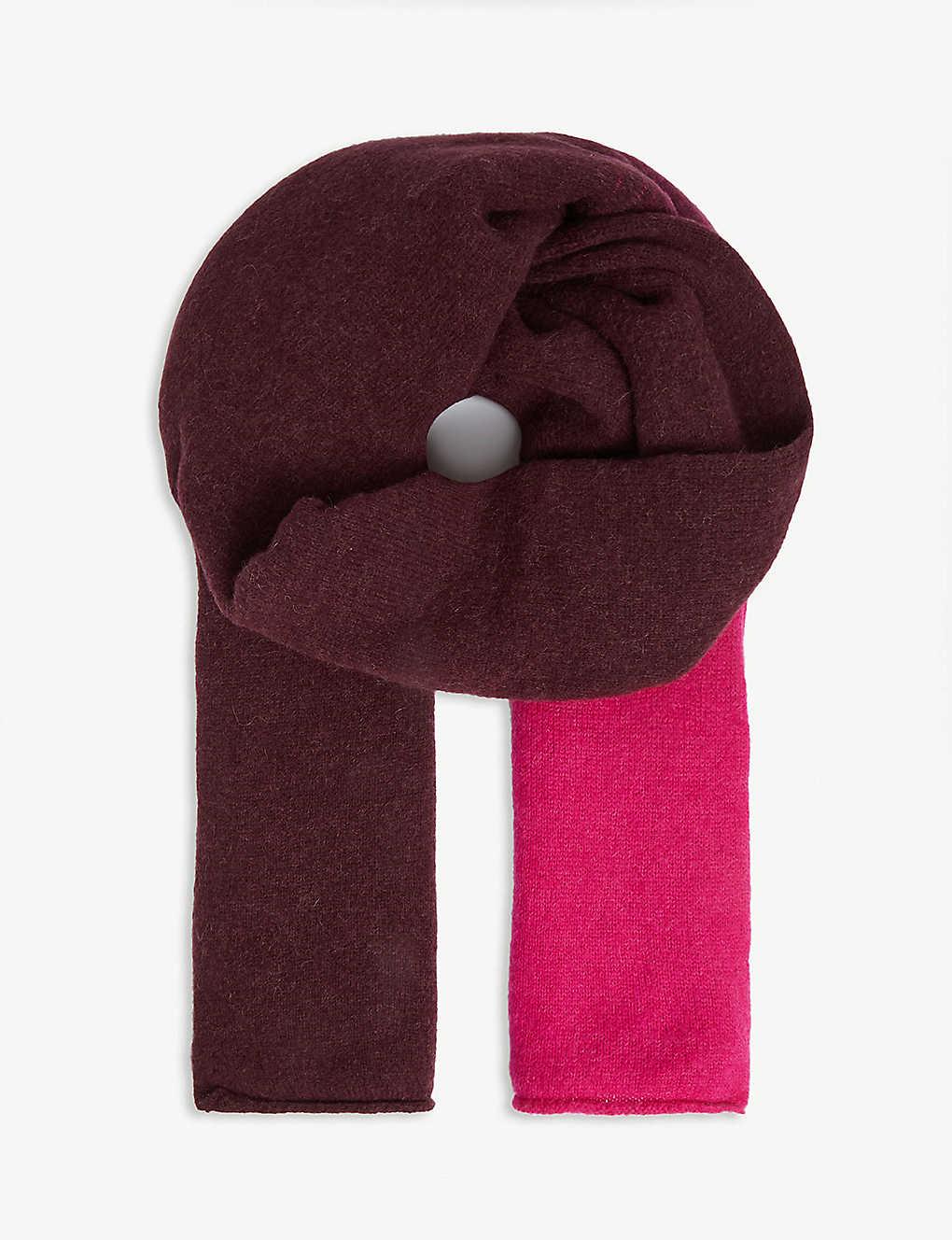 Dries Van Noten Accessories Degrade wool-blend scarf