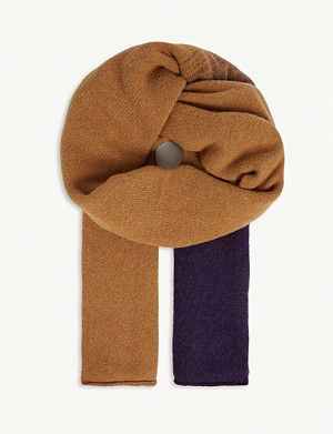 DRIES VAN NOTEN Degrade wool-blend scarf