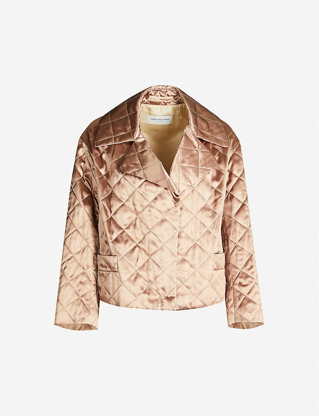 Dries Van Noten Coats Quilted satin jacket