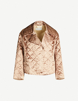 DRIES VAN NOTEN Quilted satin jacket