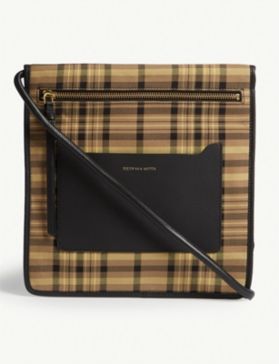 DRIES VAN NOTEN Check cross-body bag