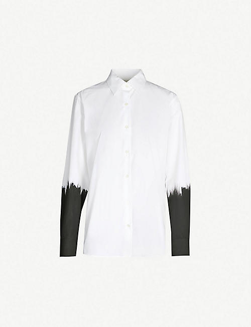 DRIES VAN NOTEN Painted cotton-poplin shirt