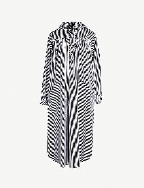 0d8009c33e DRIES VAN NOTEN Drip drawstring-hood cotton dress