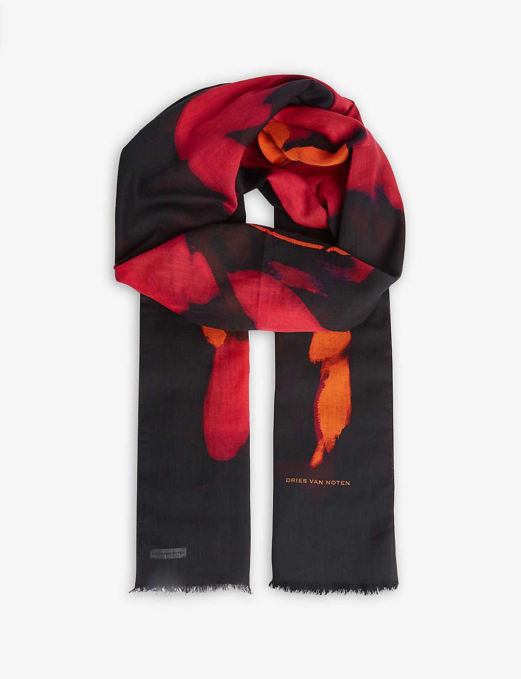 aa22c3652ce2 DRIES VAN NOTEN - Flowers scarf | Selfridges.com