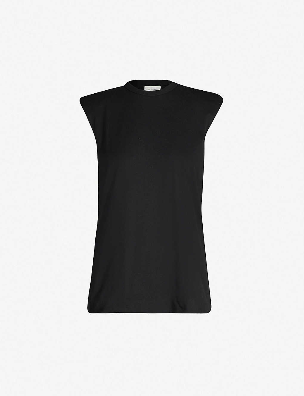 127c93379c DRIES VAN NOTEN - Shoulder pad cotton-jersey T-shirt