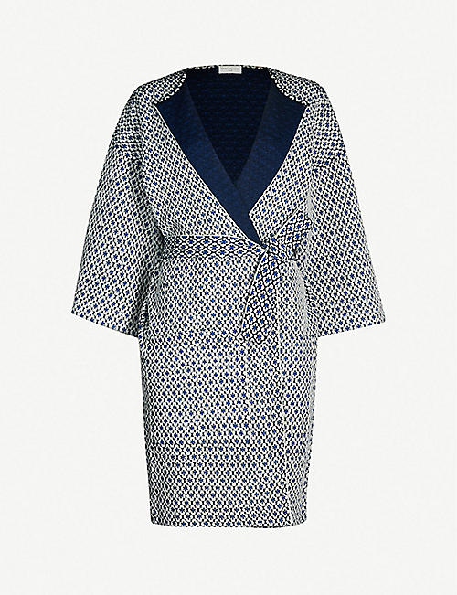 3911415efc DRIES VAN NOTEN Geometric-print wool-blend coat