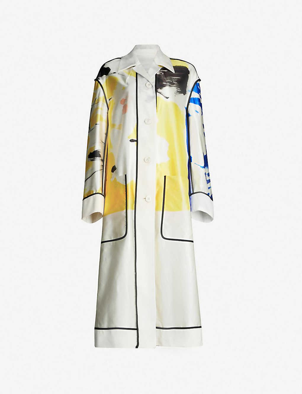 a75be57b1d7 DRIES VAN NOTEN - Oversized cotton and silk-blend coat | Selfridges.com