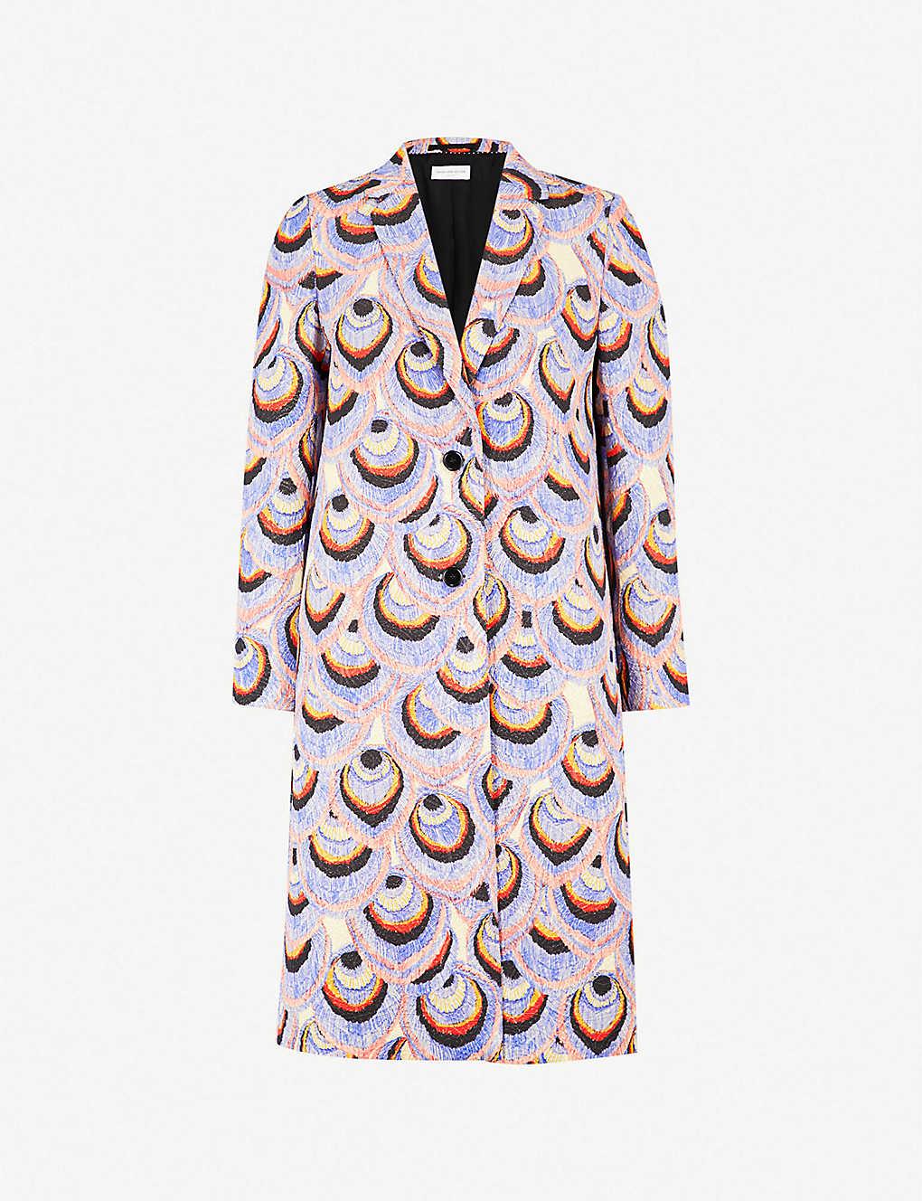 3ea4c6fec46d8 DRIES VAN NOTEN - Peacock metallic-brocade coat